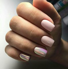 Want a fun summer manicure but think pink nail designs aren't your thing? Miss Nail Addict, listen up. Pink isn't what you remember from your very first manicure. Hair And Nails, My Nails, Crome Nails, Pink Nail Designs, Nails Design, Nagel Gel, Green Nails, Short Nails, Trendy Nails