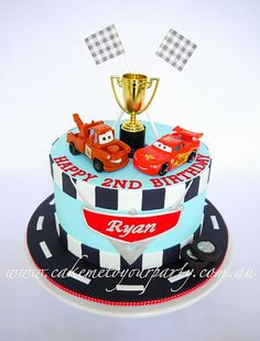 Disney Car's Cake for Twin Boys