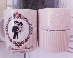 Caneca Personalizada Para Casamento | CANECA by Luciana Godoy | Elo7