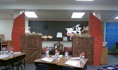 Teach-A-Roo: Themes. Going BIG! Cutest farm theme for a classroom! New Classroom, First Grade Classroom, Classroom Setting, Classroom Design, Classroom Themes, Western Rooms, Western Theme, Cowboy Western, Western Decor