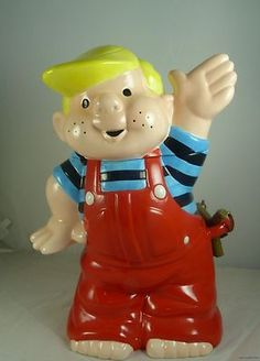 Treasure Craft Dennis the Menace Gallery Cookie Jar 1997 Limited Edition COA (: