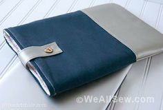 How to make a leather-trimmed laptop case. WeAllSew « http://weallsew.com