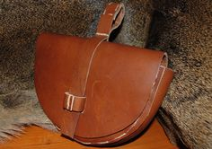 Viking bag pouch leather handmade