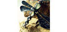 Prehnit dragonfly necklace.