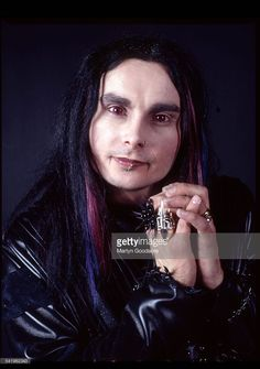 Portrait of Cradle Of Filth vocalist Dani Filth, London, United Kingdom, 2000.