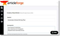 Article Forge AI Content Generator