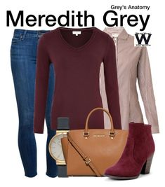 """""""Grey's Anatomy"""" by wearwhatyouwatch ❤ liked on Polyvore featuring Weekend Max Mara, Paige Denim, CC, Olivia Burton, MICHAEL Michael Kors, television and wearwhatyouwatch"""