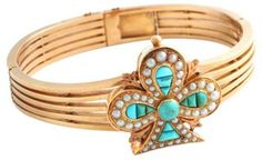 Victorian Turquoise Clover Bracelet    $3,995.