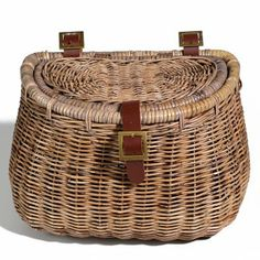 Nantucket Bike Basket Madaket Collection Creel Basket with Lid - $59