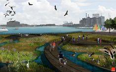 floating plant wetland park - ค้นหาด้วย Google
