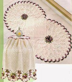 As Receitas de Crochê: Jogo de cozinha de crochê