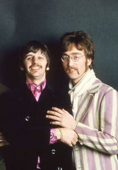 Richard Starkey and John Lennon