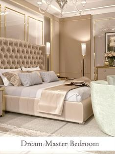 Calming mansion bedroom interior design videos with beautiful décor and furniture. Find more luxury interior design videos ideas. #moderninteriordesign #masterbedroom #luxurydesign #bedroomdecoration #fancyhousedesign Master Bedroom Interior, Luxury Bedroom Design, Home Bedroom, Bedroom Decor, Mansion Bedroom, Bedroom Interiors, Bathroom Interior, Interior Design Videos, Interior Design Dubai