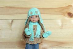Купить Комплект: шапочка, шарф и варежки для куклы Паола Рейна в интернет магазине на Ярмарке Мастеров