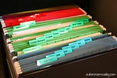 How to organize files and paperwork - Ask Anna