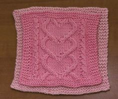 I Heart You Washcloths - a free pattern