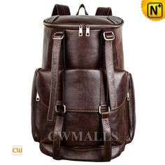 CWMALLS® Vintage Leather Rucksack Backpack CW916007 Vintage Leather Rucksack Backpack crafted from natural, premium calfskin leather in black, brown. CWMALLS leather rucksack bag featuring with top around zip closure, buckle leather straps details at front, front flap pocket, side / back zip pockets.   www.cwmalls.com PayPal Available (Price: $287.89) Email:sales@cwmalls.com