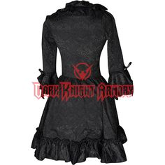 Gothic Black Brocade Queen Dress - DR-1185 from Dark Knight Armoury