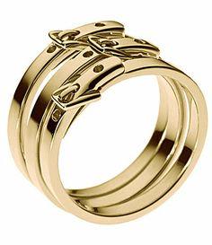 Michael Kors Buckle Ring Set