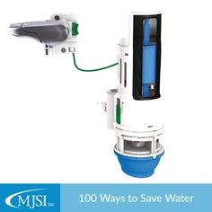 Save some water by installing a dual flush converter with a two-button system that uses up to 70% less water. #100WaysToSave