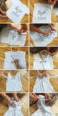 Old Tee Makeovers Part 1: The DIY Workout Top