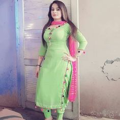 Best 12 Indian Dresses—Representing The Colorful And Vibrant Indian Culture in A Great Way Punjabi Suit Neck Designs, Patiala Suit Designs, Neck Designs For Suits, Kurti Designs Party Wear, Salwar Designs, Design Of Punjabi Suits, Indian Suits Punjabi, Designer Punjabi Suits Patiala, Punjabi Suits Designer Boutique