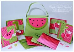 *Mouthwatering Purse & Love Notes set* by *Carrie Stamps* You can purchase instructions here. Still looking for a way to make these cute purses without die, or machines. It would make my heart sing and dance. (Robin)