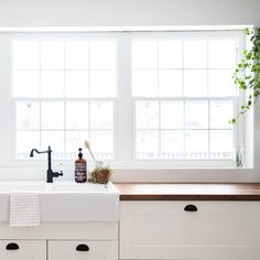 Kitchen ikea savedal countertops 40 New Ideas . Sherwin Williams Alabaster, Budget Kitchen Remodel, Kitchen On A Budget, Kitchen Remodeling, Kitchen Ideas, Wooden Countertops, Kitchen Countertops, Kitchen Island With Sink, Cuisine Ikea