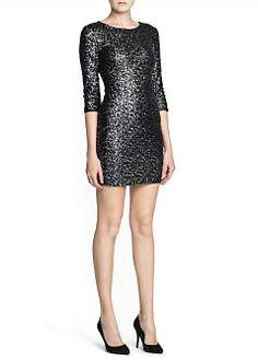 MANGO - KLEDING - Jurken - Getailleerde jurk met lovertjes