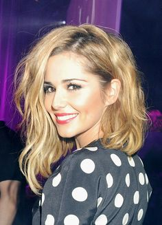Soft Subtle waves asymmetrical bob, hair-Cheryl Cole