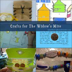 Widows Mite Crafts at BibleCraftsandActivities.com