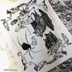 tattoos ink inked neo traditional neotraditional traditional black and white bat spider flowers Black Bird Tattoo, Black Tattoos, Tattoo Bird, Wolf Tattoos, Spooky Tattoos, Insect Tattoo, Spider Tattoo, Flower Sleeve, Desenho Tattoo