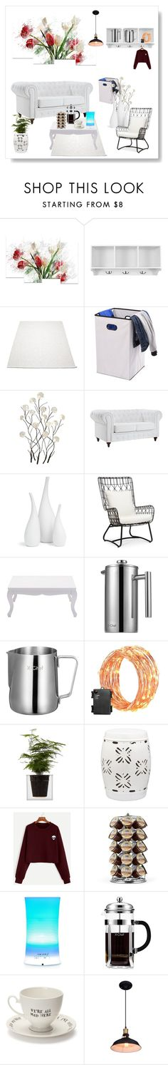White Theme Home Decor by ioakleaf on Polyvore featuring interior, interiors, interior design, home, home decor, interior decorating, Palecek, Safavieh, Boskke and Mrs Moore