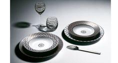 Hermes luxury tableware and glassware | Harlequin London #hermes #luxury #tableware #glassware #wedding