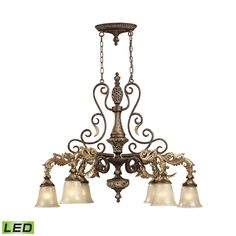 ELK Lighting 2161/6-LED Regency Collection Burnt Bronze Finish