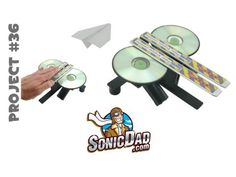 Have you ever seen a paper airplane break the sound barrier? Made from CDs, pocket fans, and a few other common supplies, this paper airplane launcher really lets them fly.