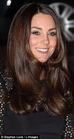 DARKER SHADE... The Duchess of Cambridge showed off visibly darker hair when she arrived at the SportsAid SportsBall in London this evening compared to othe...