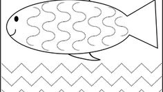 Curved and Zig Zag Line Tracing - 1 Worksheet