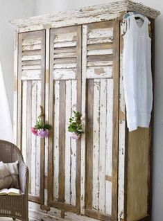 lockers for garage out of old shutters!!!