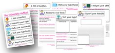 Here's a nice set of printables on one approach to a scientific method. Includes posters and worksheets.
