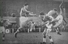 Workington 0 Gillingham 1 in Oct 1958 at Borough Park. Action from their first ever meeting in league football Bill Shankly, Gillingham, Liverpool Fc, 1950s, Action, English, Football, Park, History
