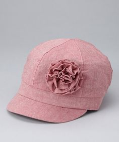 Girls spring newsboy hat by David and Young.