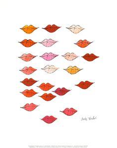 Lips Print by Andy Warhol at Art.com