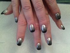 Ombre' design using silver to black.
