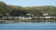 Houses on Iona, Scotland