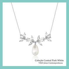 #NoivasVIKX #ColeçãoCentralParkwhite #Noivas #Jewellry #vikx #Joias #Casamento #Gargantilha #Colar #Necklace #gold #Diamond #Pearl