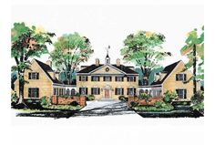 Eplans Plantation House Plan - George Washington Slept Here - 3450 Square Feet and 5 Bedrooms(s) from Eplans - House Plan Code HWEPL00519