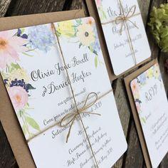 Watercolour Floral Wedding Invitations  'Primavera Collection'