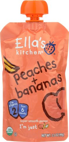 Ella's Kitchen Baby Food - Peaches Bananas - Case Of 12 - 3.5 Oz.