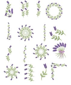 Lavender embroidery ideas for sachets...